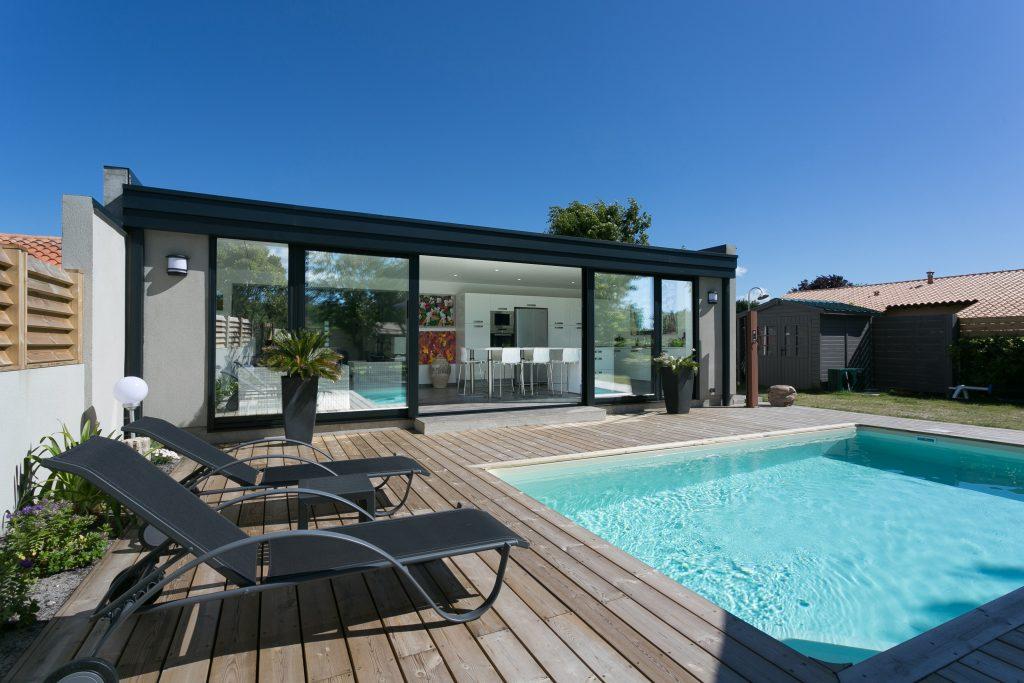 Veranda design et piscine