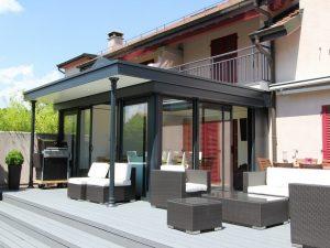 Jardin d'Hiver avec dôme sur Genève