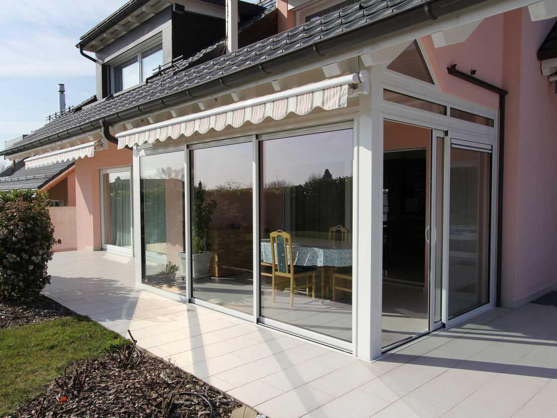 Une fermeture de terrasse intégrée