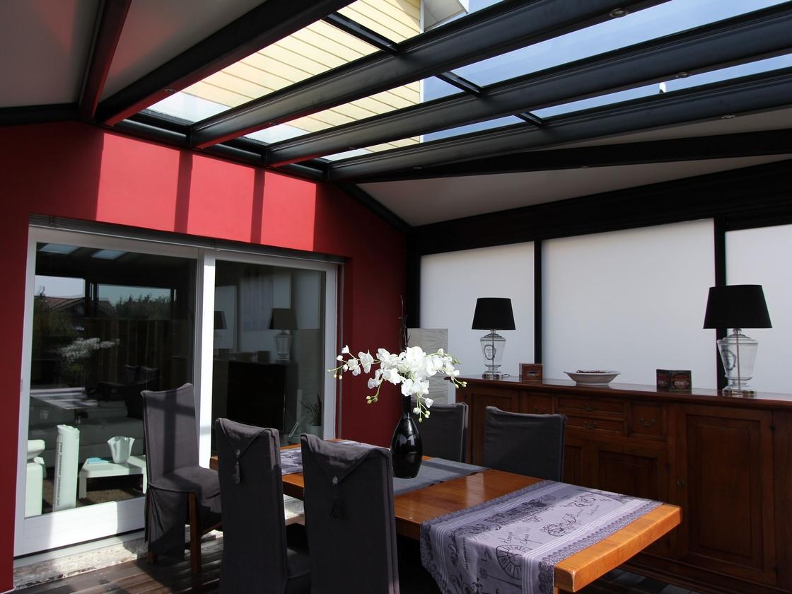 Véranda à toiture mixte – canton de Genève