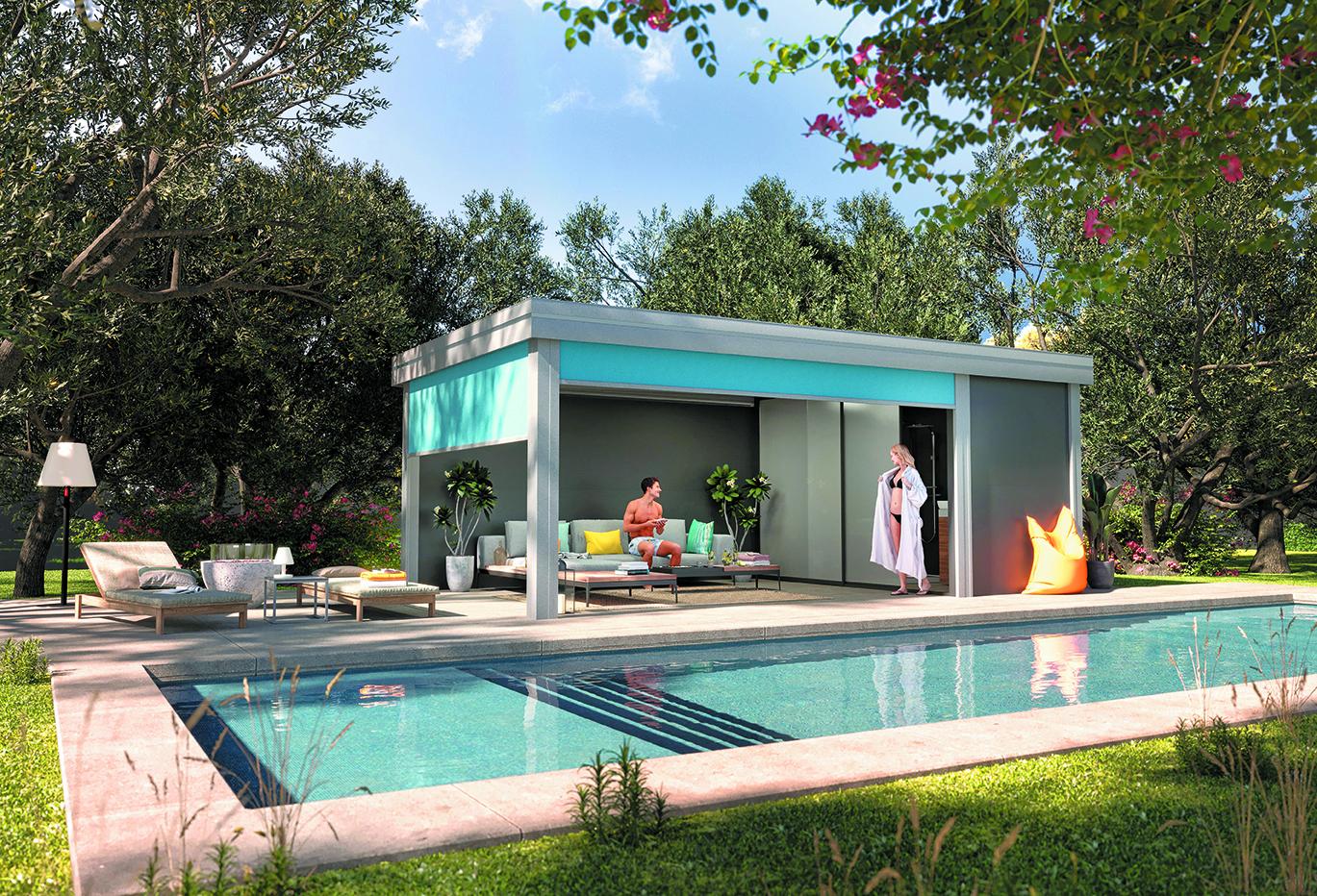 un pool-house de détente